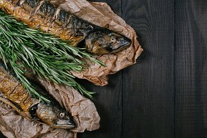 Fish with rosemary