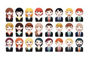 24 x multi-ethnic business avatar