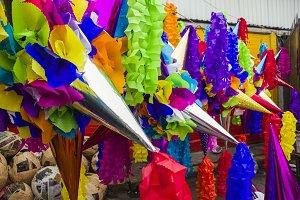 Pinatas in a Market, Mexico