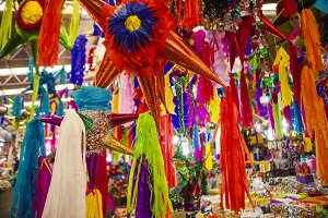 Pinatas in a Market, Mexico