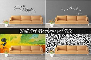 Wall Mockup - Sticker Mockup Vol 422