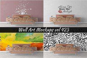 Wall Mockup - Sticker Mockup Vol 423