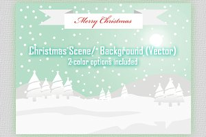 Christmas Scene/Background (vector)