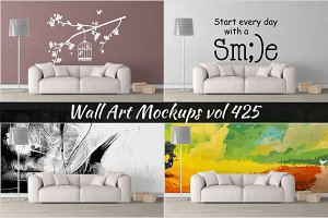 Wall Mockup - Sticker Mockup Vol 425