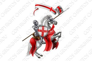 Saint George Medieval Knight on Horse