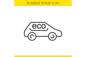 Eco car linear icon
