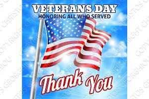 Veterans Day American Flag Design