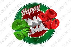 Happy Cinco De Mayo Label Sign