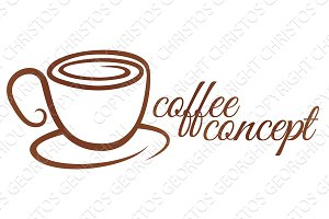 Coffe Cup Cafe Concept