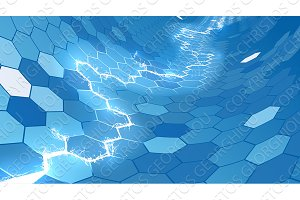 Electric Blue Honeycomb Hexagon Background
