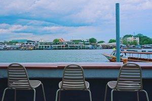 Cafe bar by the river, Bangkok