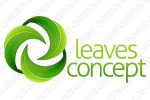 Leaves Circle Concept