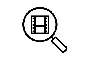 Movie search linear icon
