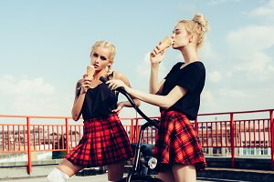 girls eating ice-cream
