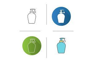 Liquid soap bottle with drop icon