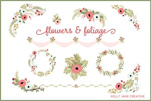 Floral Wreaths & Design Elements