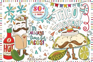 Mexican Food ClipArt -Taco