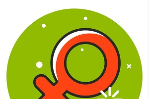 Women venus sign icon
