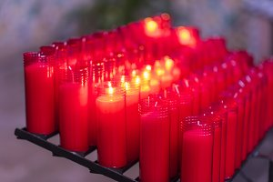 Church candles.