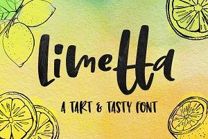 Limetta: a fun handwritten font