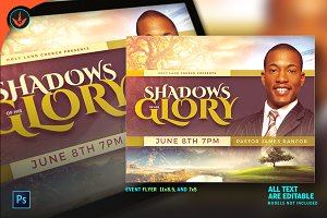 Shadows of His Glory Church Flyer