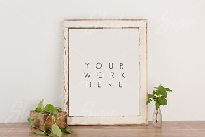 Rustic Frame and Greenery Mock Up