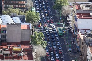 Traffic in Mexico City