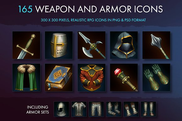 Weapons Armor And Equipment Icons