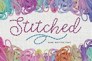 Stitched hand written font