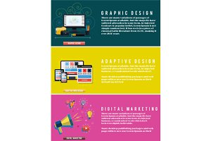 Icons for web design, seo, digital