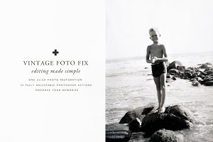Vintage Foto Fix Photoshop Actions