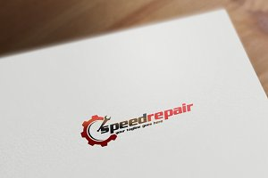 Speed Repair Logo Template