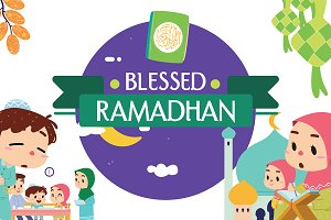 BLESSED RAMADHAN VECTOR SET
