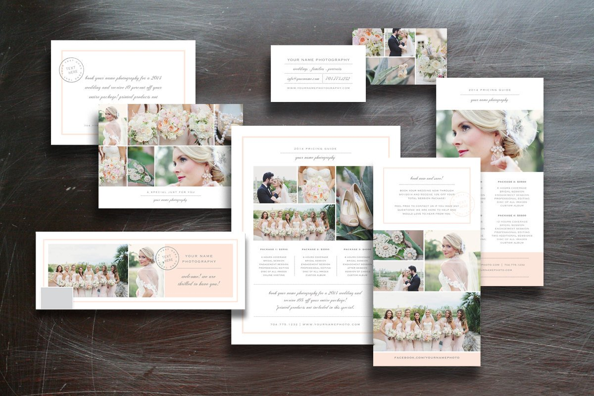 free photography marketing templates - photographer marketing set presentation templates