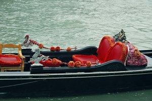 Gondola seats in Venice, Italy