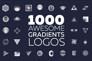 1000 awesome gradients logos