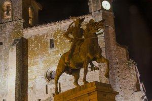 Pizarro statue, Trujillo, Spain