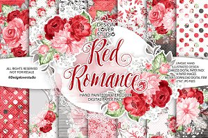 Watercolor RED ROMANCE DP