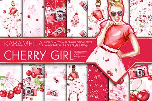 Cherry Fashion Seamless Patterns