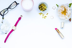 Pink and Gold Branding Image
