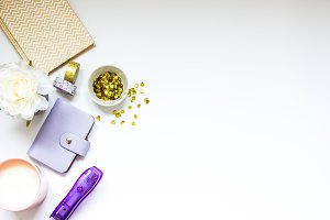 Purple and Gold Branding Image