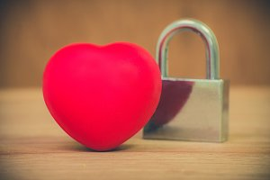 Heart of love and lock