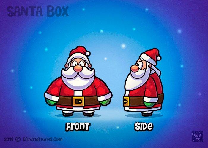 Happy Santa Claus Character Illustrations Creative Market
