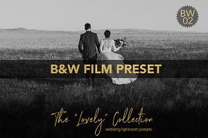 B&W Film Wedding Lightroom Preset