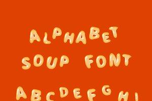 Alphabet soup font, latin letters