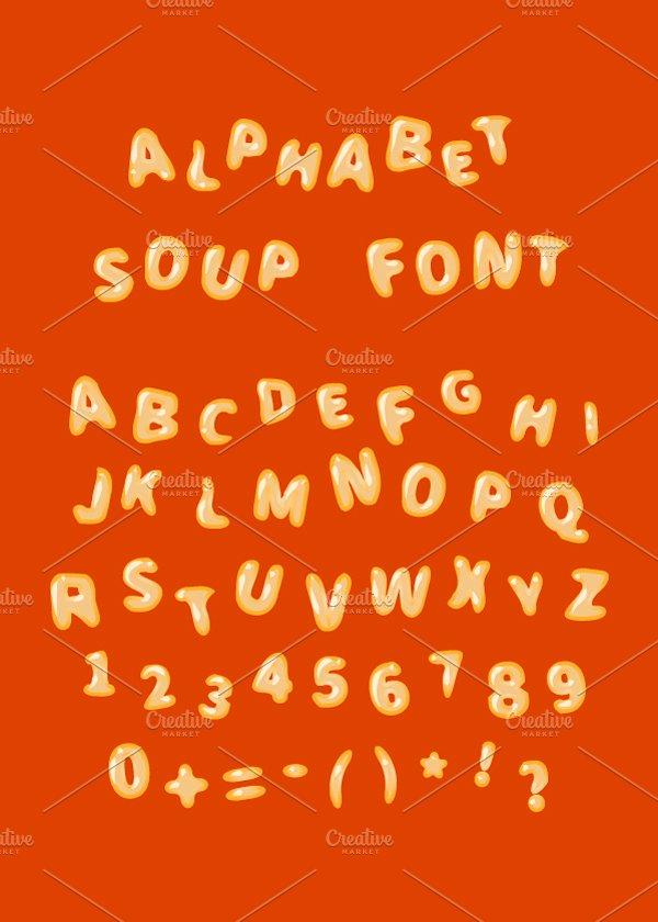 Alphabet Soup Font Latin Letters Symbol Fonts Creative Market