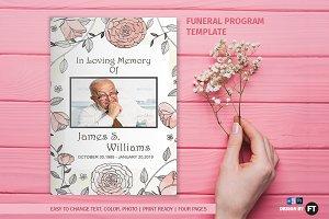 Funeral Program Template / Minimal