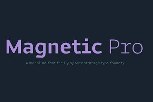 Magnetic Pro font family