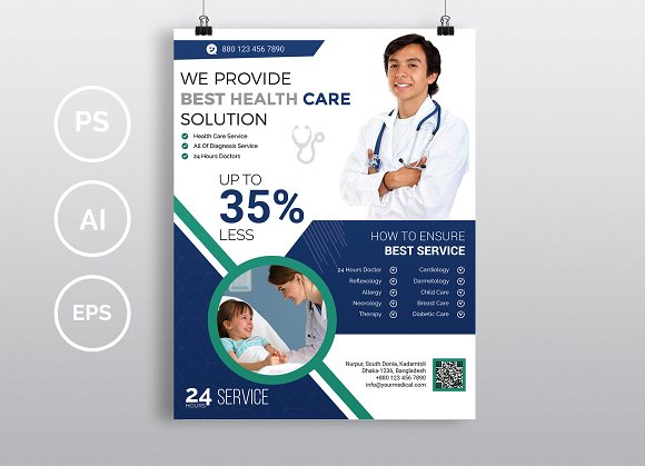 doctor medical flyer vol 02 flyer templates creative market