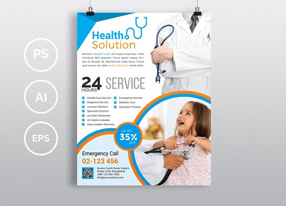 doctor medical flyer vol 03 flyer templates creative market